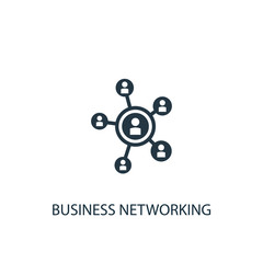 Business networking icon. Simple element illustration