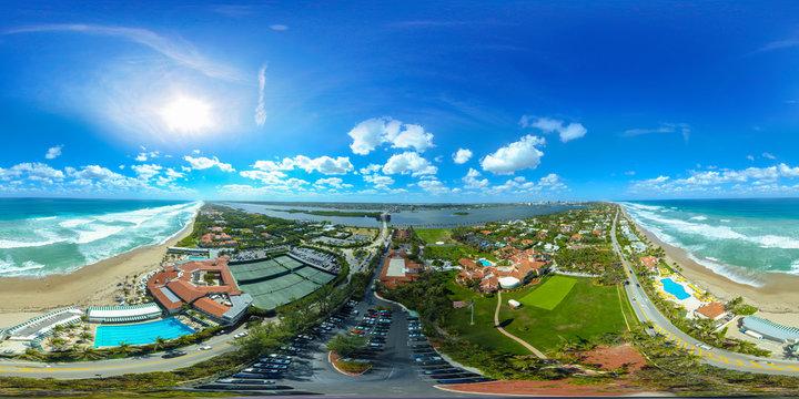 Mar A Lago West Palm Beach Florida aerial spherical photo