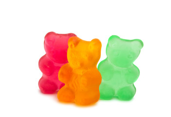jelly bears isolated