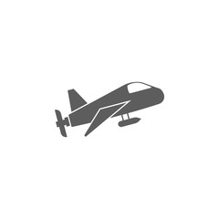 airplane with camera icon. Elements of a controlled aircraft icon. Premium quality graphic design. Signs, outline symbols collection icon for websites, web design, mobile app