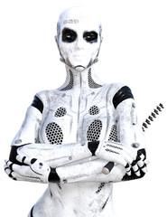 Alien Female Head Shot 3D Renders