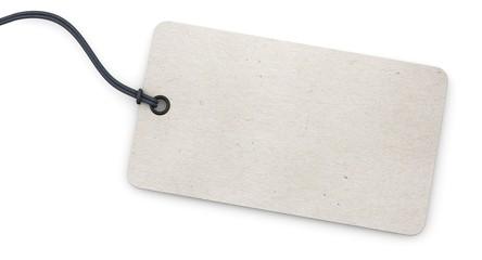 Anhänge-Etikett - rechteckig - Struktur weiß