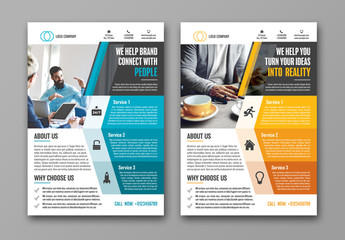 Business Flyer Layout with Geometric Sidebar 1