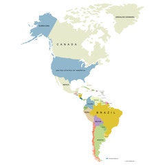 North and South of America territory, territory of Canada