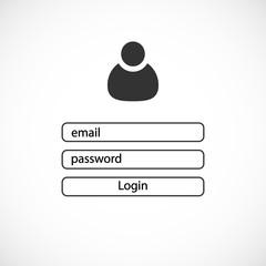 Login page design. User login