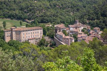 Stadt und Schloss Entrecasteaux, Var, Brignoles Fotomurales