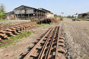 The disused railway station at Battambang on Cambodia