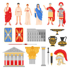 Imperial Rome Icons Set