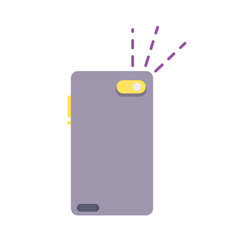 colorful smartphone in rear position to flash picture