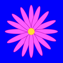 Flower on the blue background
