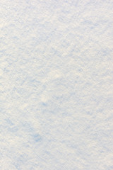 Beautiful texture of snow. Blank white background. Place for text, layout.