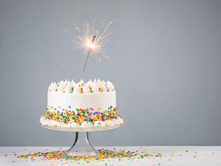 Birthday Cake with Sprinkles