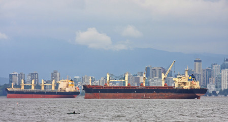 Tankers in English Bay, Vancouver