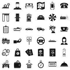 Highly profitable icons set, simple style