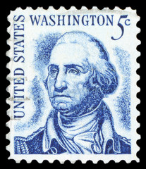 USA - CIRCA 1950: A stamp printed in the USA shows image portrait George Washington, circa 1950.