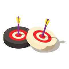Target icon, isometric style