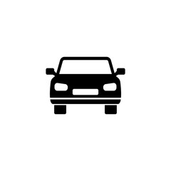 Car vector icon. Simple flat symbol on white background