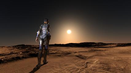 Science Fiction Space Exploration 3D Render