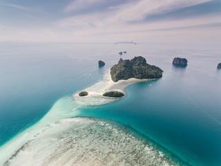 Rocks and lagoon in ocean
