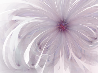 Purple gentle and soft fractal flowers computer generated image for logo, design concepts, web, prints, posters. Flower background