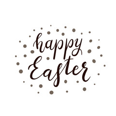 Text Happy Easter with dots