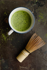 Organic matcha tea cup