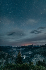 Yosemite Mountain Starry Night Photography