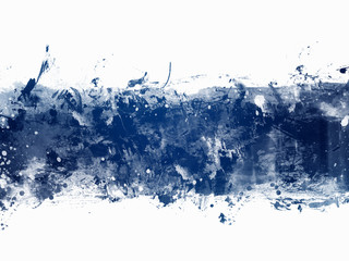 Blue Abstract Artistic Watercolor Paint Background