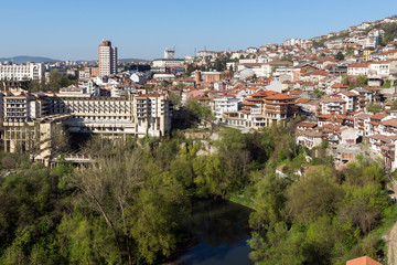 Panoramamic view of city of Veliko Tarnovo, Bulgaria
