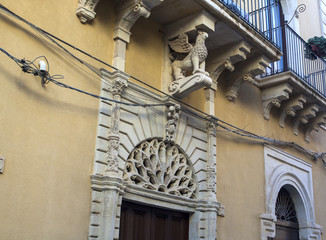 Typical baroque balcony, Ortigia