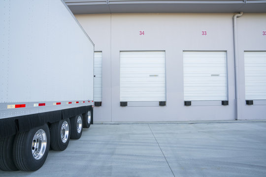 Warehouse and truck.