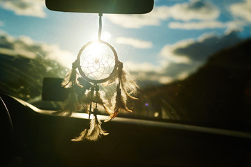 Dreamcatcher charm for luck in long road travels