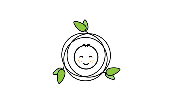 New Born Baby Kind Vector Logo