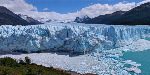 Frente del muro de hielo Perito Moreno Patagonia