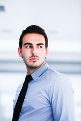 Beautiful young businessman portrait