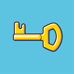 Key vector icon.
