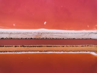 Aerial shoot of salt lake
