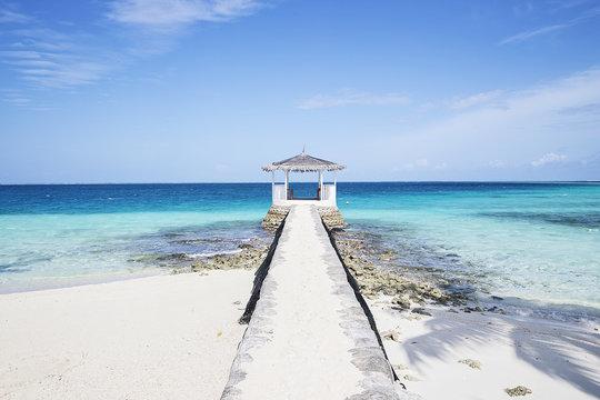Wedding gazebo on tropical island