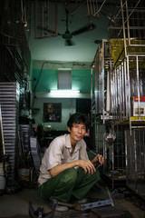 Metal craftsman in Hanoi, Vietnam
