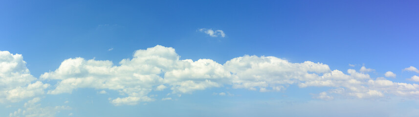 Panoramic sky with white cloud