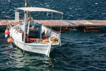 Pretty little fishing boat in harbor