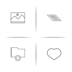 Files And Folders, Sign simple linear icon set.Simple outline icons