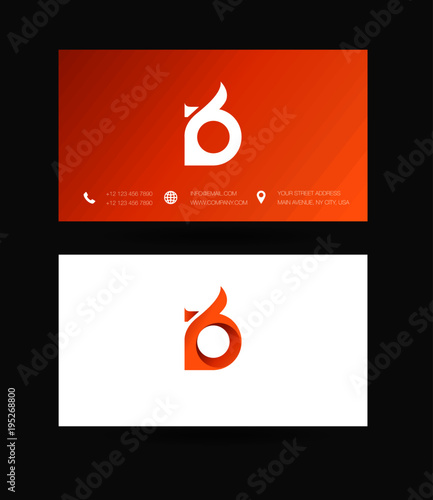 Letter d logo icon with business card vector template stock letter d logo icon with business card vector template reheart Gallery
