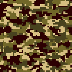 Digital camouflage background. Seamless pattern.Vector. 迷彩パターン