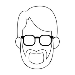 Man faceless with glasses icon vector illustration graphic design