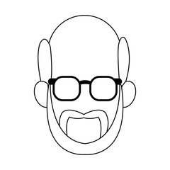 Old man faceless with glasses icon vector illustration graphic design
