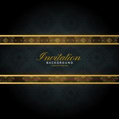 premium golden invitation template background