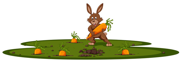 Bunny and carrot garden