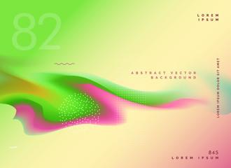bright fluid colors gradient background design