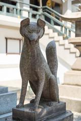 難波神社の狐